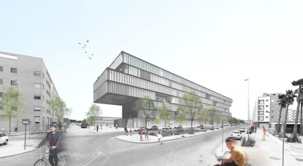 idoia otegui iotegui arquitectura escue la universidad sevilla concurso EXTERIOR