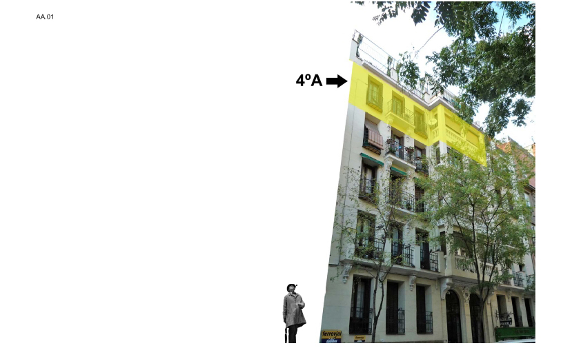 idoia otegui iotegui arquitectura reforma rehabilitación vivienda madrid Casa Ana 1
