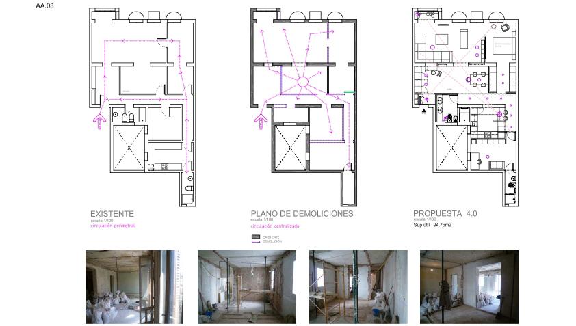 idoia otegui iotegui arquitectura reforma rehabilitación vivienda madrid Casa Ana 3