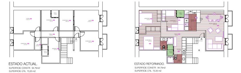 idoia otegui iotegui arquitectura reforma rehabilitacion vivienda fuenterrabia plantas