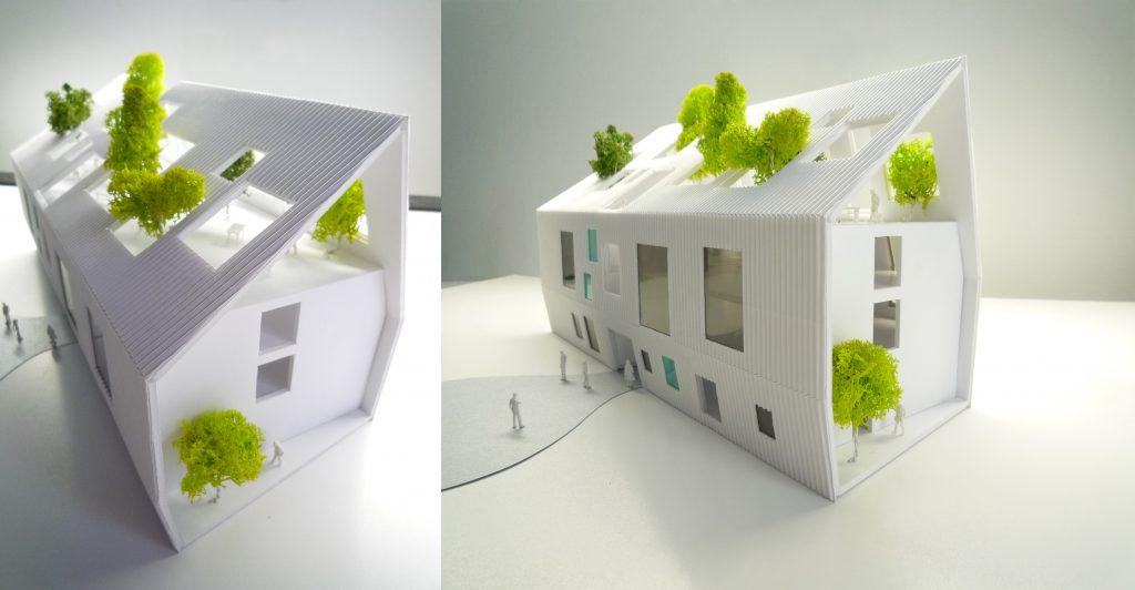 idoia otegui iotegui arquitectura residencia tercera edad maqueta 1