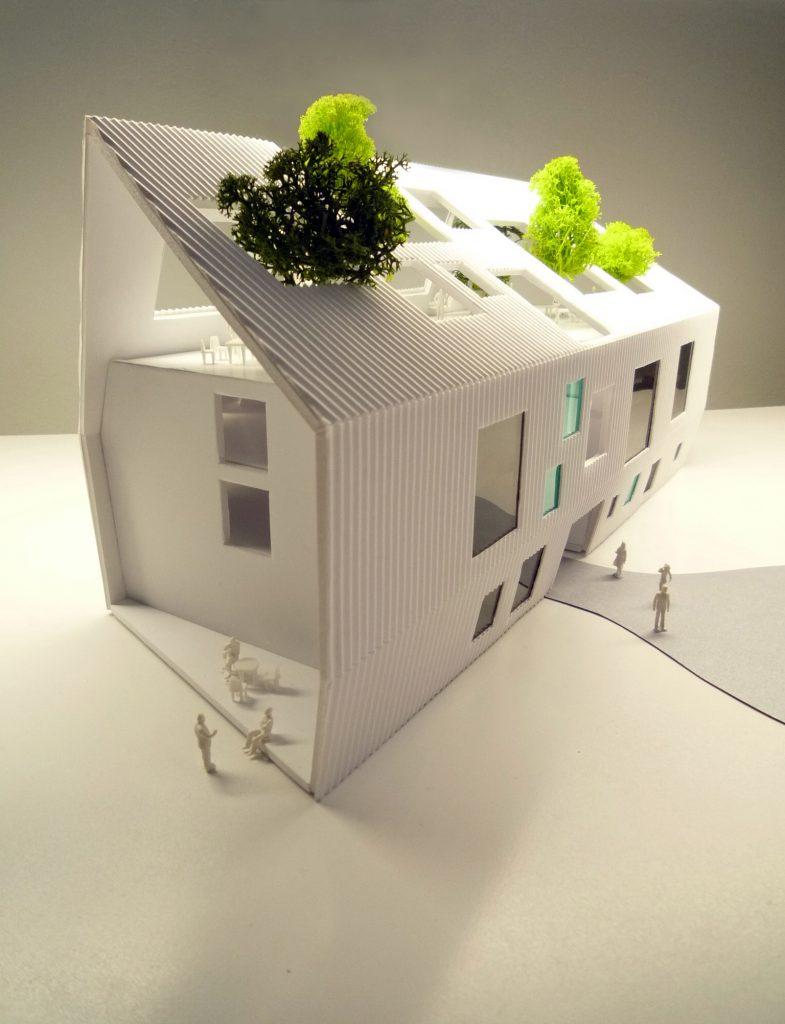 idoia otegui iotegui arquitectura residencia tercera edad maqueta 3
