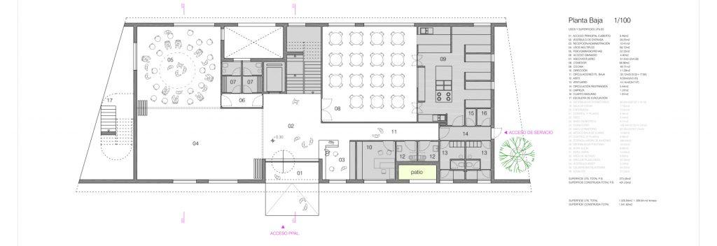 idoia otegui iotegui arquitectura residencia tercera edad planta 3