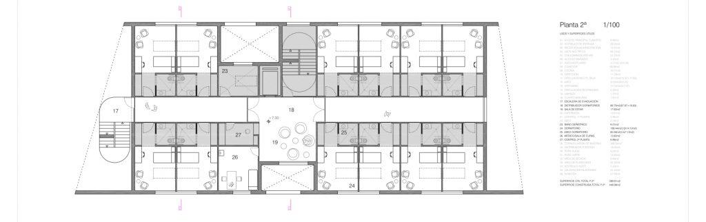 idoia otegui iotegui arquitectura residencia tercera edad planta 2