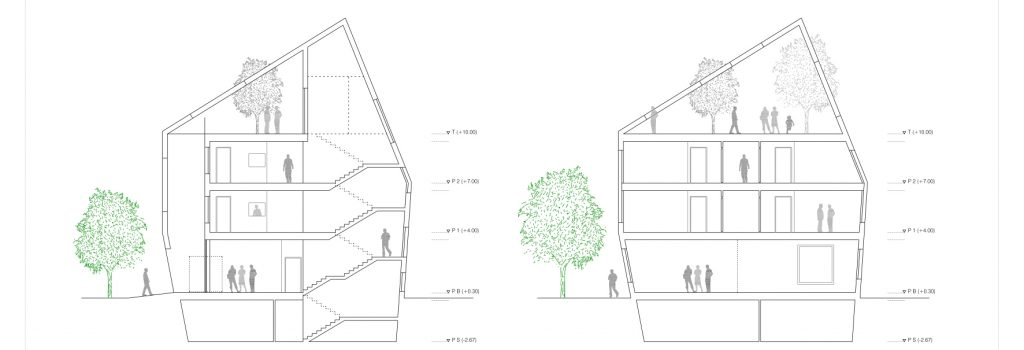 idoia otegui iotegui arquitectura residencia tercera edad secciones