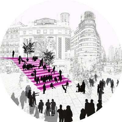 idoia otegui iotegui arquitectura urbanismio mobiliario urbano Madrid gran vía miniatura