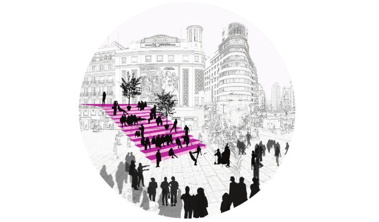 idoia otegui iotegui arquitectura urbanismio mobiliario urbano Madrid gran vía 13
