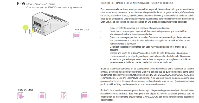 idoia otegui iotegui arquitectura urbanismio mobiliario urbano Madrid gran vía 9