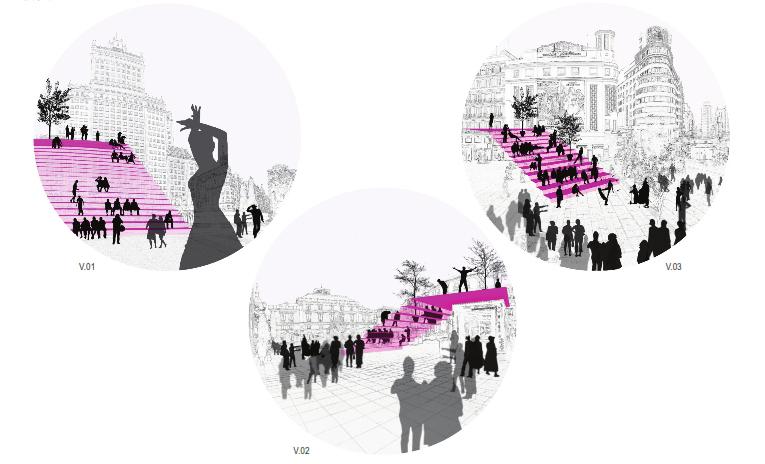 idoia otegui iotegui arquitectura urbanismio mobiliario urbano Madrid gran vía 11
