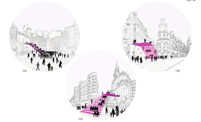 idoia otegui iotegui arquitectura urbanismio mobiliario urbano Madrid gran vía 12