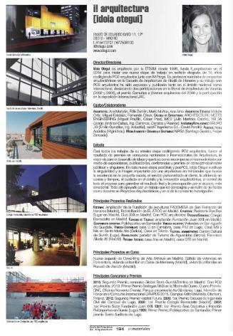 i! arquitectura iotegui idoia otegui guia estudio arquitectura España promateriales 2