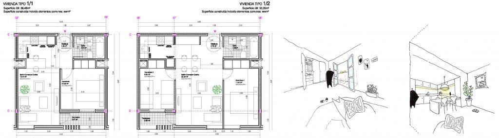 iotegui idoia otegui arquitectura vivienda socila madrid emvs vallecas myhome habitat futura myhome 11