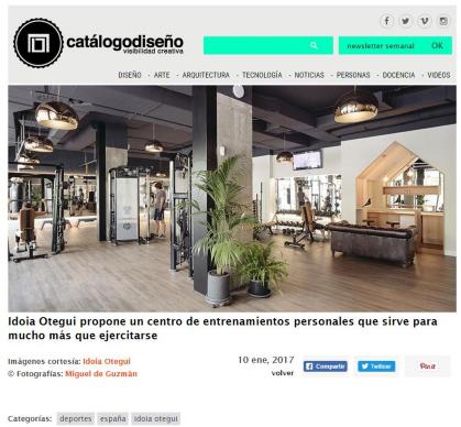 idoia otegui arquitectura reforma gimnasio club xii Madrid catalogo diseño 2