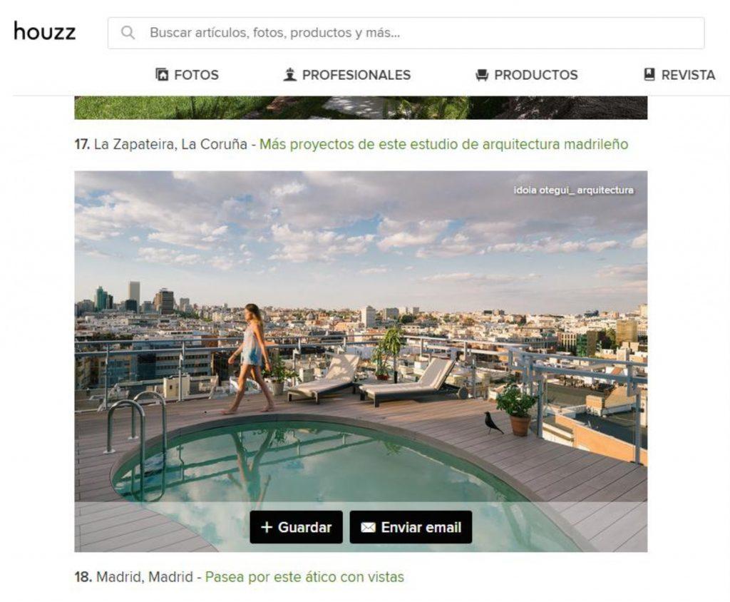 idoia otegui arquitectura reforma rehabilitación atico piscina terraza madrid