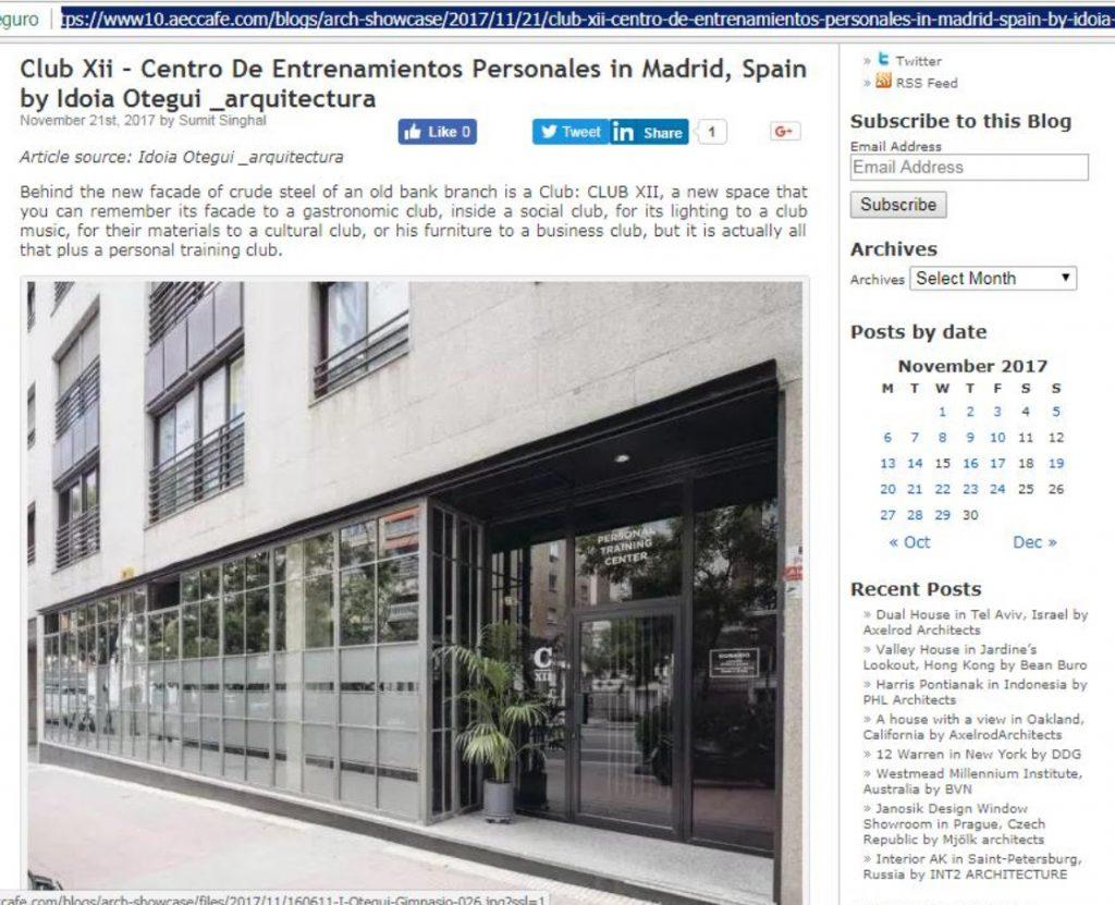 i! arquitectura idoia otegui arquitectura club xii centro entrenamientos personales ecafee