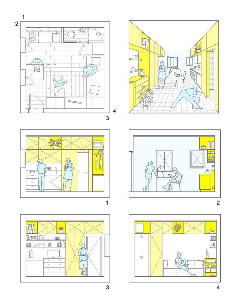 i! idoia otegui arquitectura reforma vivienda rehabilitacion lavapies madrid 4x4 14