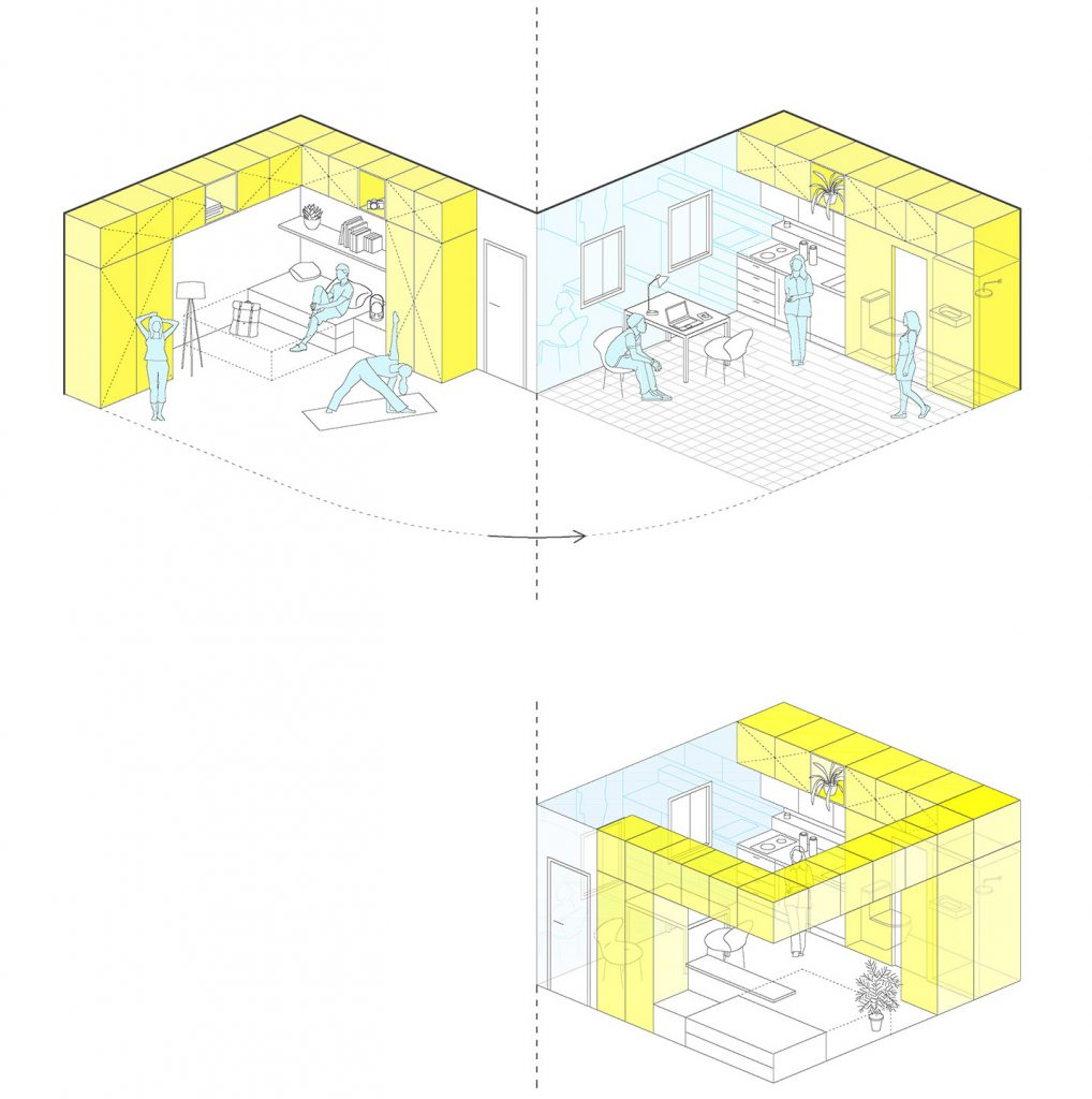 i! idoia otegui arquitectura reforma vivienda rehabilitacion lavapies madrid 4x4 19