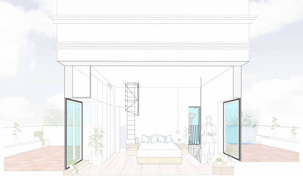 idoiaotegui-arquitectura-reforma-rehabilitacion-cupula-vivienda-santa engracia dormitorio 2