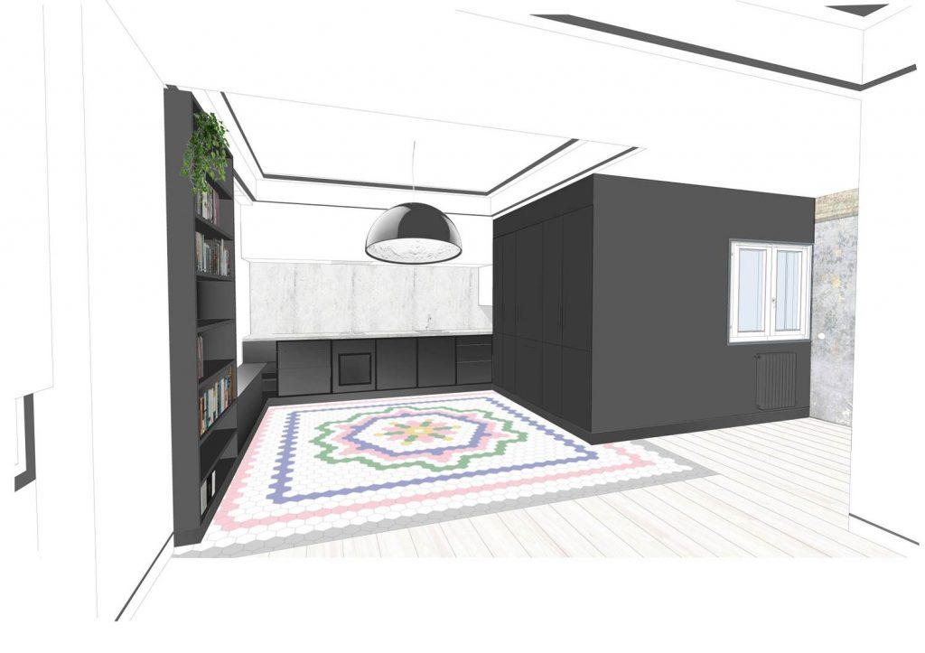 idoiaotegui-iotegui-arquitectura-reforma-vivienda-rehabilitacion-cupula-dome-santa-engracia-madrid cocina