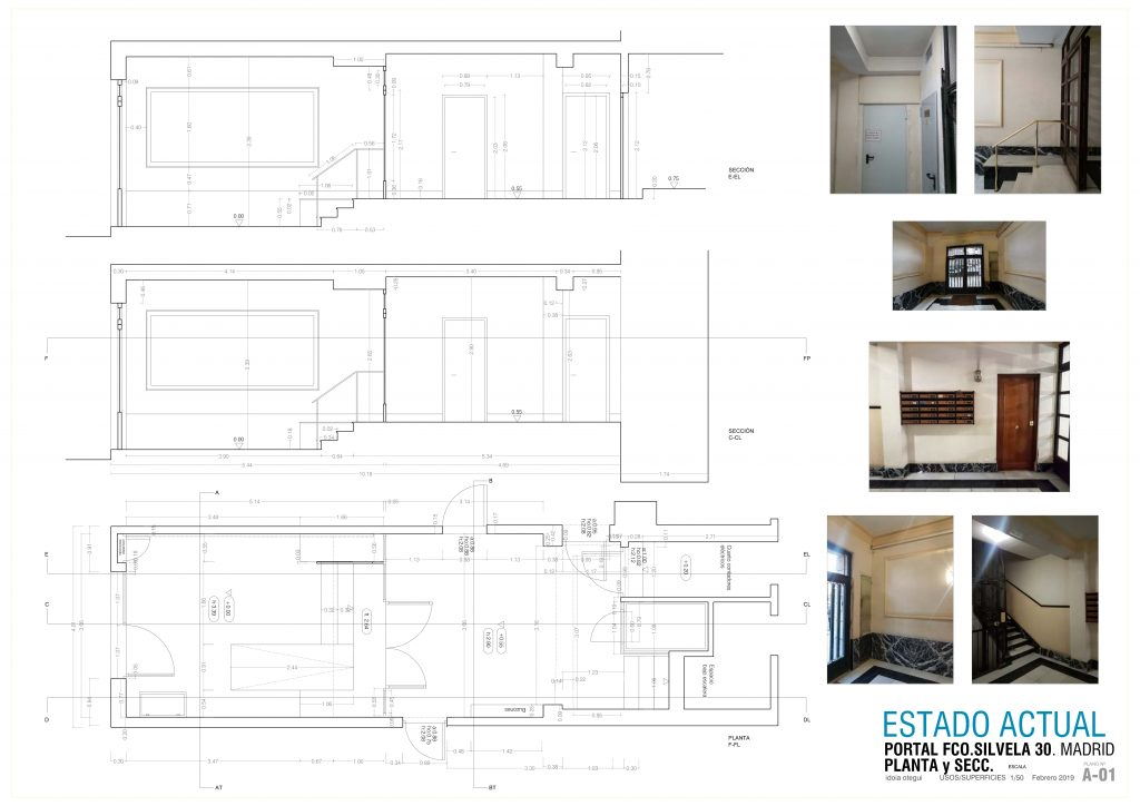 idoia otegui arquitectura reforma vivienda rehabilitacion portal barrio salamanca madrid 9
