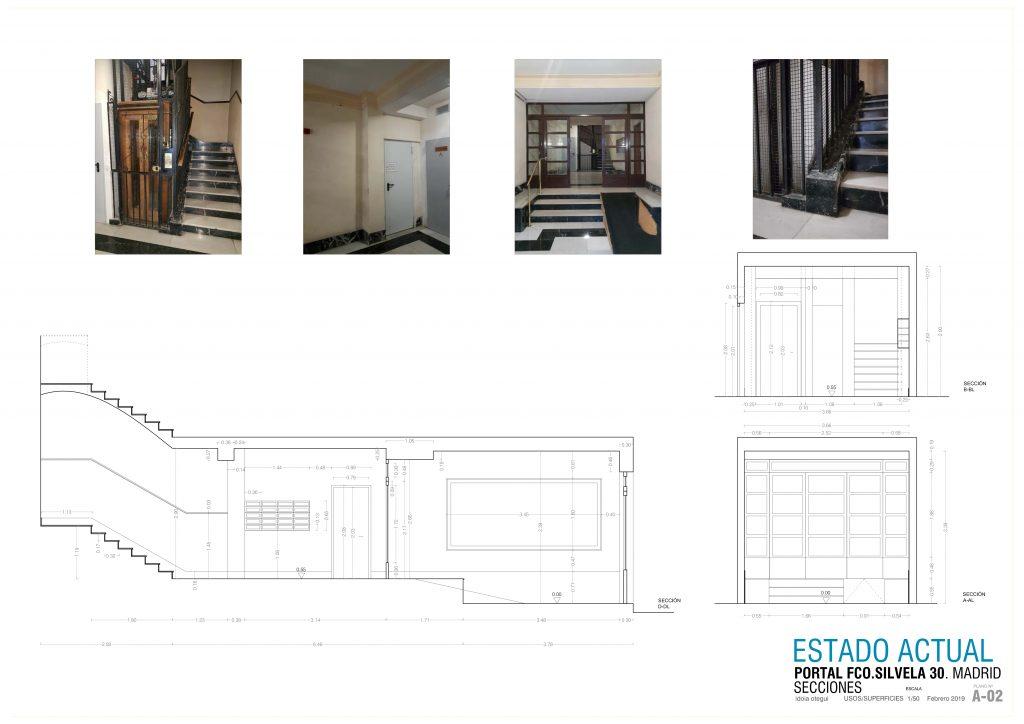 idoia otegui arquitectura reforma vivienda rehabilitacion portal barrio salamanca madrid 16
