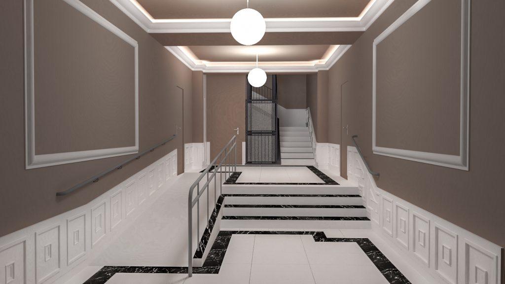 idoia otegui arquitectura reforma vivienda rehabilitacion portal barrio salamanca madrid 11