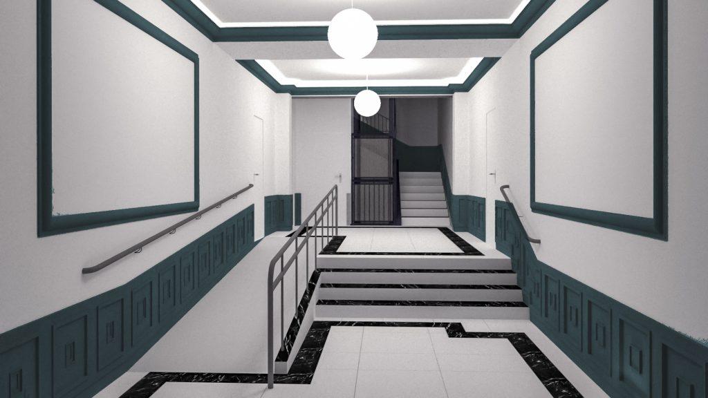 idoia otegui arquitectura reforma vivienda rehabilitacion portal barrio salamanca madrid 14