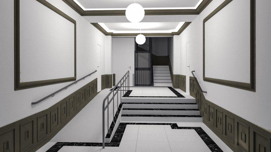 idoia otegui arquitectura reforma vivienda rehabilitacion portal barrio salamanca madrid 15