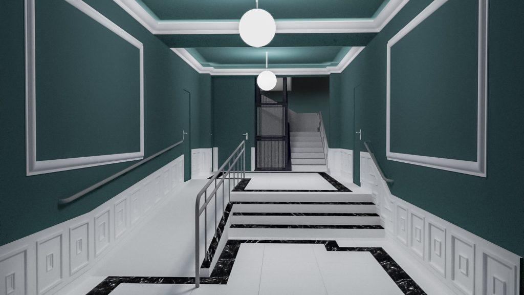 idoia otegui arquitectura reforma vivienda rehabilitacion portal barrio salamanca madrid 10