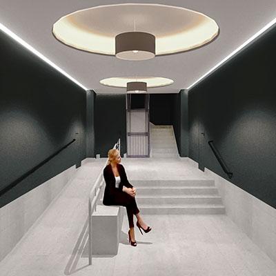 idoia otegui arquitectura reforma vivienda rehabilitacion portal barrio salamanca madrid 17