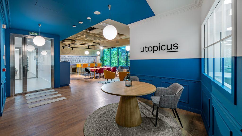 idoia otegui utopicus coworking oficina flexible arquitectura reforma madrid francisco silvela 11