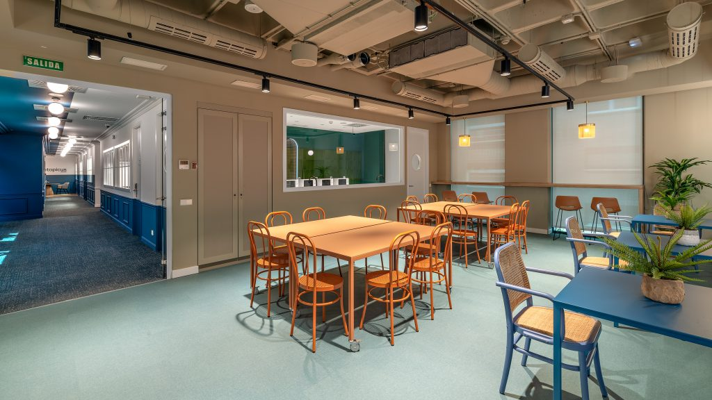 idoia otegui utopicus coworking oficina flexible arquitectura reforma madrid francisco silvela 13