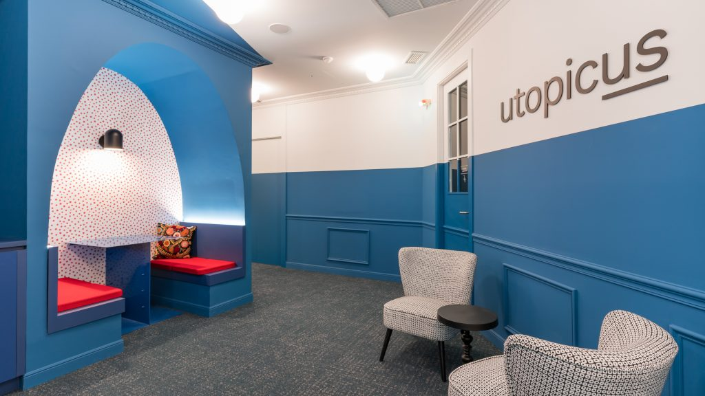 idoia otegui utopicus coworking oficina flexible arquitectura reforma madrid francisco silvela 24