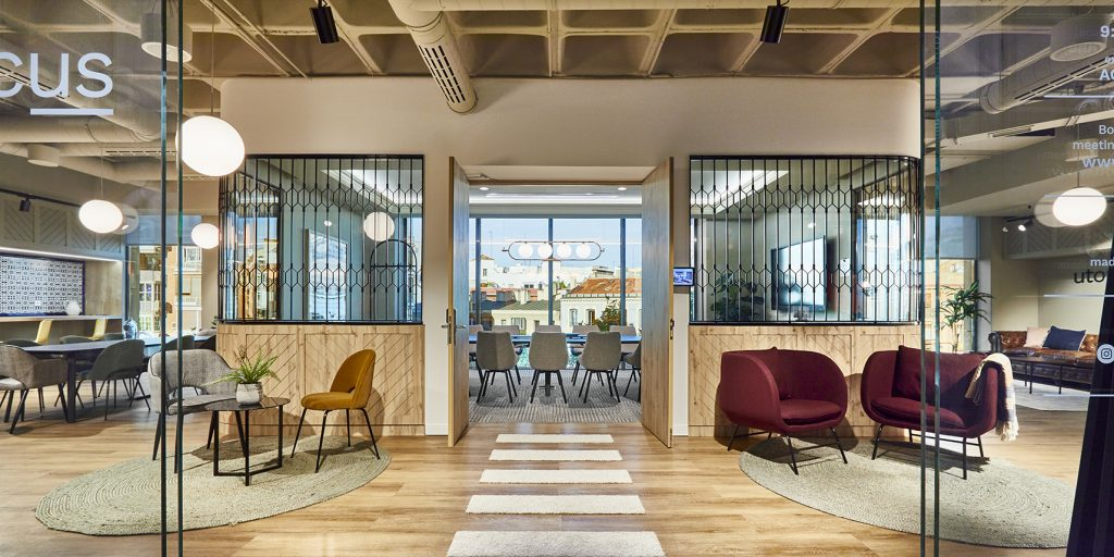 idoia otegui utopicus coworking oficina flexible arquitectura reforma madrid francisco silvela 50