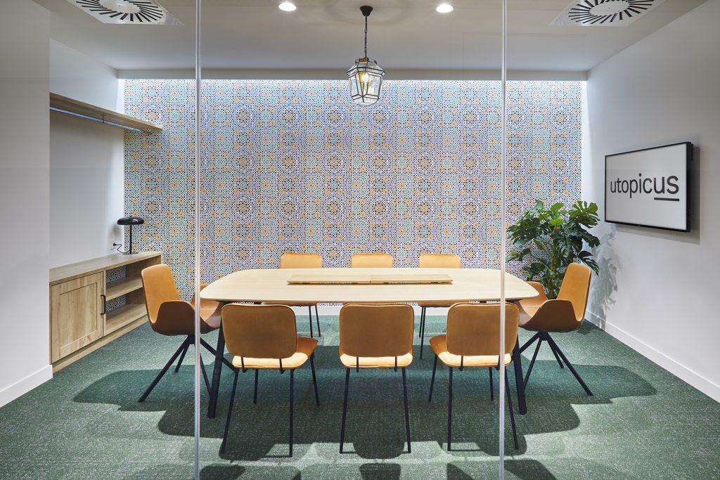 idoia otegui utopicus coworking oficina flexible arquitectura reforma madrid francisco silvela 60