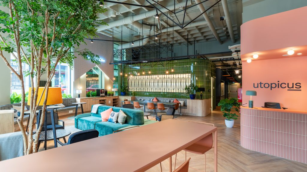 idoia otegui utopicus coworking oficina flexible arquitectura reforma madrid francisco silvela 34