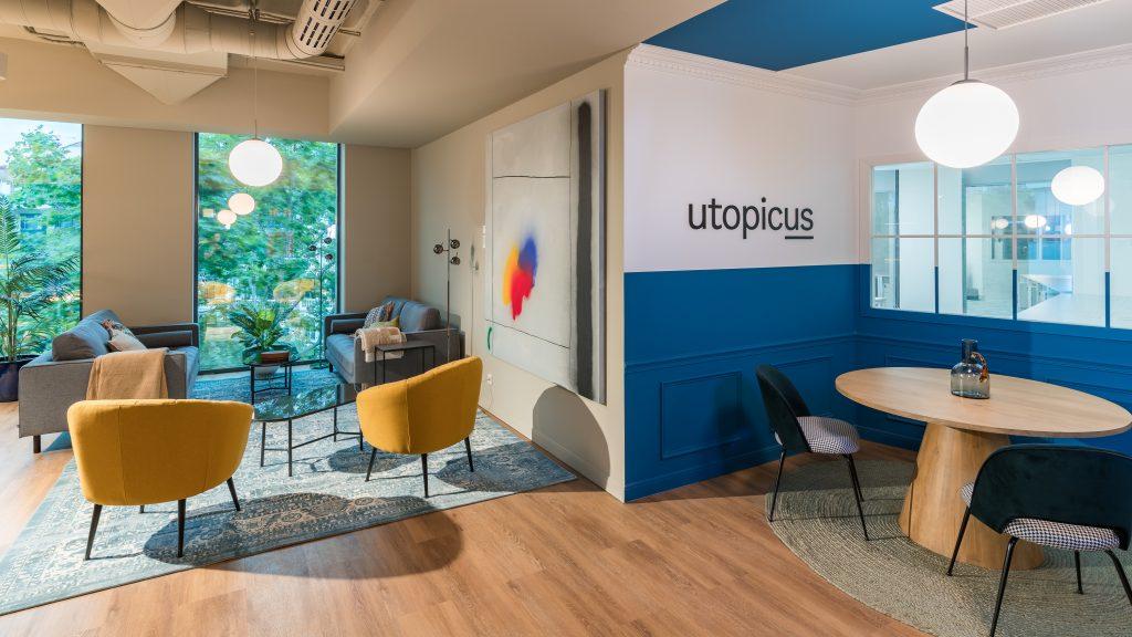 idoia otegui utopicus coworking oficina flexible arquitectura reforma madrid francisco silvela 28