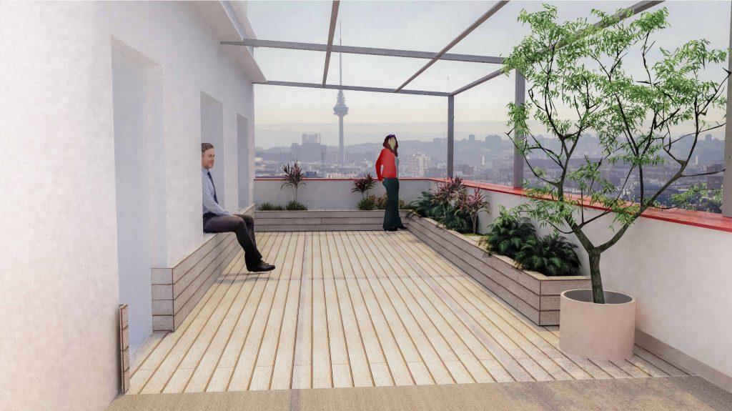 idoia otegui arquitectura ático francisco silvela reforma rehabilitación terraza 13